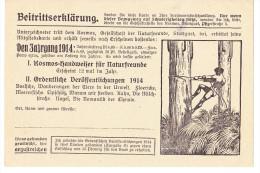 Deutsches Reich/German Empire/Empire Allemand - Beitrittserklärung Zu Kosmos/Membership Agreement Cosmos 1914 - Old Paper