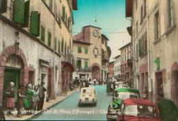 S.CASCIANO IN VAL DI PESA FIRENZE VIA MACCHIAVELLI ACQUARELLATA ANNI 60 NON VG. - Firenze