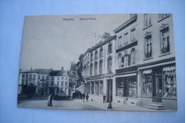 CPA - SOIGNIES ( LA LOUVIERE ATH MONS ) - GRAND PLACE ( CAFE DE LA BRASSERIE DE NAAST - QUINCAILLERIE EPICERIE ) - Soignies