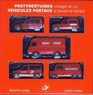 La Poste Belge - Set 5 Véhicules- Citroën 2V & Berlingo - Bedford Calv - Renault Saviem SG2 & R4 F4- Minichamps (1/64) - Publicitaires - Toutes Marques
