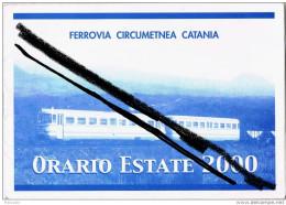 ORARIO FERROVIARIO FERROVIA CIRCUMETNEA CATANIA-RIPOSTO-estate 2000- - Europa