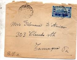 1932 LETTERA CON ANNULLO FRONDAROLA TERAMO FRANCOBOLLO ROTTO - 1900-44 Vittorio Emanuele III