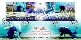 VANUATU - 2014 - Cables Sous Marins, Plongeurs - émission Conjointe Vanuatu Et Fiji - FDC - Vanuatu (1980-...)