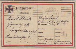 CPFM 14/18 Allemande Avec Croix De Fer Et Au Dos Svastika Et Citation Patriotique, Cachet SPEYER 15.11.14 - WW I