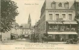 76.CAUDEBEC-EN-CAUX.N°10 2.HOTEL DU HAVRE.E POUCHIN,PROP.BUREAU DE CORRESPONDANCE DES OMNIBUS D'YVETOT - Caudebec-en-Caux