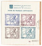 GENERALITAT CATALUNYA1937. HOJITA FOYER FRANÇAIS ANTIFASCISTE.VER DESCRIPCCION SES 760 - Viñetas De La Guerra Civil