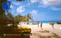 ANGUILLA PHONECARD BEACH-1 CAGB 25000pcs-1989-USED - Anguilla
