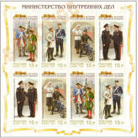 2013 M/S Russia Russland Russie Rusia Ryssland Mi 1979-1982 Uniforms Of The Ministry Of The Interior 2Sets  MNH ** - Politie En Rijkswacht