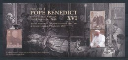 ISLE OF MAN  Mi.Nr. Block 74   Besuch Von Papst Benedikt XVI.- MNH - Isla De Man