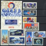 USSR Russia 1975 Space Apollo-Soyuz 10 Stamps + S/s MNH - UdSSR