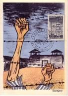 ALDEBERT Bernard  -   DEPORTATION  CAMPS  -  MILITAIRE  GUERRE  - 1964  CPSM  10,5x15  TBE  Carte  Maximum - Otros Ilustradores