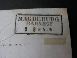 == Magdeburg Bahnhof 1953  Bahnpost Berlin Mit Inhalt - Germany