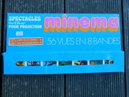 Minema - Coffret 56 Vues En 8 Bandes, N° 121 à 128 - Spectacles Walt Disney - Livre De La Jungle II - 1973 - Projecteurs De Films