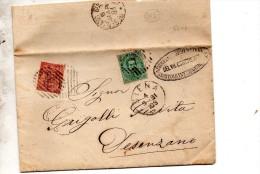 1881  LETTERA CON ANNULLO SIENA + DESENZANO - 1878-00 Umberto I