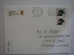 United States US 1992 Commercial Cover Milwaukee WI To UK Air Mail 29c X2 - United States