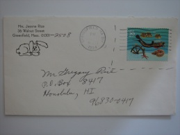 United States US 1994 Commercial Cover Springfield MA To Hawaii  29c Fish Stamp - United States