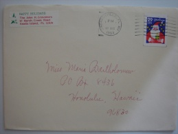 United States US 1994 Commercial Cover Jacksonville FL To Hawaii  29c Xmas Stamp - United States