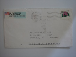 United States US 1994 Commercial Cover Springfield MA To Hawaii  29c Stamp - United States