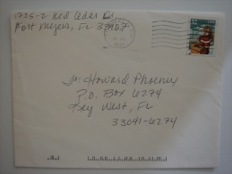 United States US 1995 Commercial Cover Ft Myers FL To US  32c Xmas Stamp - United States
