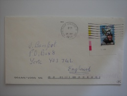 United States US 1997 Commercial Cover White River Junction VT To UK 60c  Stamp - United States