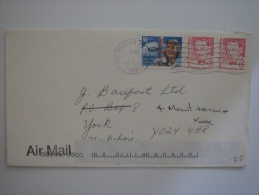 United States US 1999 Commercial Cover Mid Hudson DC To UK 50c + 5c X2 Stamp - United States