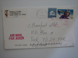 United States US 2000 Commercial Cover Oakland CA To UK 50c + 10c Stamp - United States