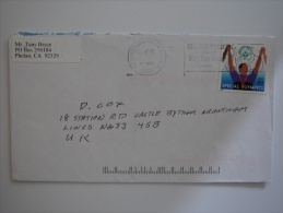 United States US 2004 Commercial Cover San Bernardino CA To UK 80c Stamp - United States