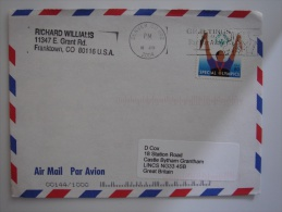 United States US 2004 Commercial Cover Denver To UK 80c Stamp - United States