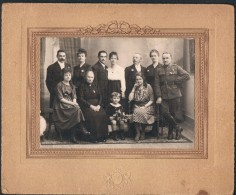 Photo Souvenir Du Mariage De Germaine Hubert Et Gaston Denoncin, 6 Mars 1920 (Bouillon, Noirefontaine ?) - Personas Identificadas