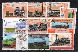 Lot Eisenbahn CUBA Gestempelt - Kuba
