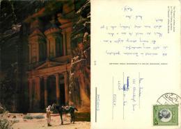 Petra, Jordan Postcard Used Posted To UK 1960s Nice Stamp - Jordan