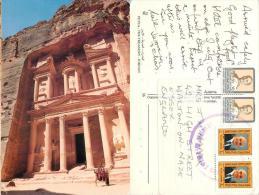 Petra, Jordan Postcard Used Posted To UK 1990s Nice Stamp - Jordan