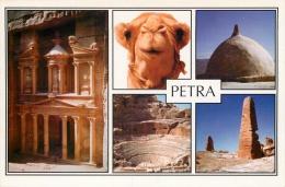 Petra, Jordan Postcard Used Posted To UK 2005 Gb Stamp - Jordan