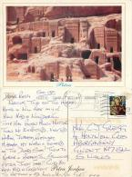 Petra, Jordan Postcard Used Posted To UK 2010 Gb Stamp - Jordan
