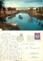 River Jordan, Jordan Postcard Used Posted To UK 1963 Gb Stamp - Jordan