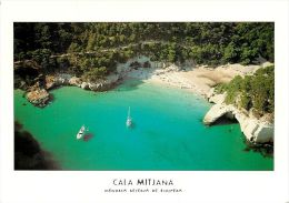 Cala Mitjana Menorca Spain Postcard Used Posted To England 2005 Atm - Menorca