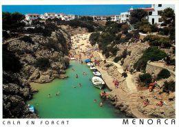 Cala En Forcat Menorca Spain Postcard Used Posted To England 1994 Stamp - Menorca