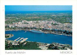 Puerto De Mahon Menorca Spain Postcard Used Posted To England 2007 Nice Stamp - Menorca