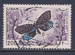 Lebanon, Scott # C434 Used Butterfly, 1965 - Lebanon