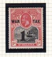 ST HELENA -  King George V - WAR TAX - Grossbritannien (alte Kolonien Und Herrschaften)