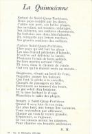 Saint-Quay Portrieux - La Quinocéenne - Chanson Signée R.M - Musica