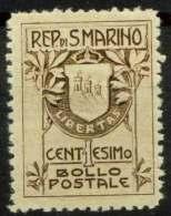 #14-02-00742 - San Marino - 1910 - Sass. 49 - MNH - QUALITY:40% - Crease - Ungebraucht