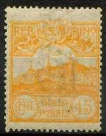#14-02-00749 - San Marino - 1903 - Sass. 41 - MH - QUALITY:40% - Toned - Ungebraucht