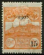 #14-02-01808 - San Marino - 1905 - Sass. 46 - MH - QUALITY:100% - Ungebraucht