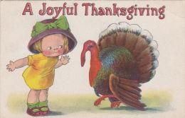 JOYFUL THANKSGIVING CARD. TURKEY. DAMAGED - Thanksgiving