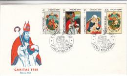 Caritas - Peintures - Chevaux - Madonnes - St Martin - St Georges - Luxembourg - Lettre De 1980 - Luxemburg