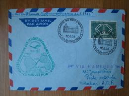 Luxemburg: Mi-Nr 554 Auf Lufthansa-Eröffnungsflug Brief 1956, FDC ! - Covers & Documents