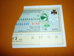 Panathinaikos-Iraklis Greek Championship Basketball Ticket 23/5/2004 - Tickets D'entrée