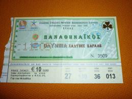 Panathinaikos-Olympia Greek Championship Basketball Ticket 11/12//2005 - Tickets D'entrée