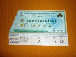 Panathinaikos-Aris Greek Championship Basketball Ticket 13/5/2006 - Tickets D'entrée